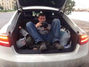 Съемка из багажника